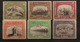 Etats De L'Inde Bahawalpur 1945 N° Services 1 / 6 ** Barrage, Panjnad, Dromadaires, Antilopes, Pélicans, Derawar, Temple - Bahawalpur