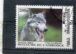 CAMBODIA. 2001. SCOTT 2143. CANIS LUPUS OCCIDENTALIS - Cambodge