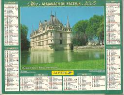 2005 DOUBLE CALENDRIER POSTE ALMANACH DES P.T.T 08 ARDENNES OLLER - Calendars
