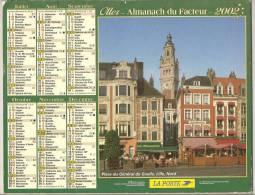 2002 DOUBLE CALENDRIER POSTE ALMANACH DES P.T.T 08 ARDENNES OLLER - Big : 1941-60
