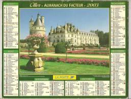 2003 DOUBLE CALENDRIER POSTE ALMANACH DES P.T.T 08 ARDENNES OLLER - Big : 1941-60