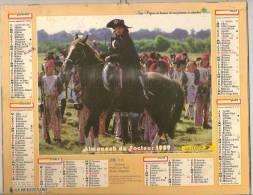 1989 DOUBLE CALENDRIER POSTE ALMANACH DES P.T.T 08 ARDENNES OLLER - Big : 1941-60
