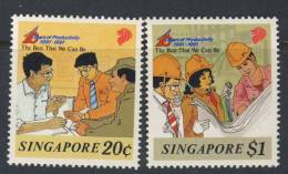 SINGAPOUR 1991 PRODUCTIVITE YVERT N°623/24  NEUF MNH** - Singapour (1959-...)