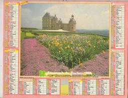 1992 DOUBLE CALENDRIER POSTE ALMANACH DES P.T.T 08 ARDENNES OLLER - Big : 1941-60