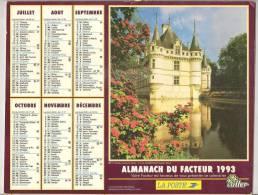 1993 DOUBLE CALENDRIER POSTE ALMANACH DES P.T.T 08 ARDENNES OLLER - Big : 1941-60