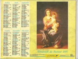 1997 DOUBLE CALENDRIER POSTE ALMANACH DES P.T.T 08 ARDENNES OLLER - Big : 1941-60