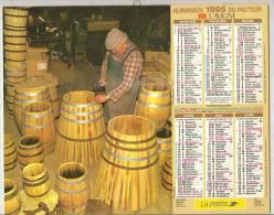 1995 DOUBLE CALENDRIER POSTE ALMANACH DES P.T.T 08 ARDENNES LAVIGNE - Big : 1941-60