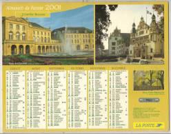 2001  DOUBLE CALENDRIER POSTE ALMANACH DES P.T.T 08 ARDENNES J.CARTIER BRESSON - Big : 1941-60