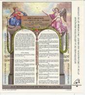 BICENTENAIRE DE LA REVOLUTION FRANCAISE ET DE LA DECLARATION DES DROITS DE L'HOMME... 1989 - ( BLOCS N° 11 ) - France