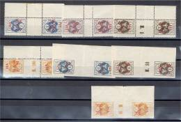 """CENTRAL LITHUANIA, GUTTER-PAIRS, OF THE  """"NA SLASK"""" SET 1921 - Lithuania"""