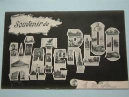 Souvenir De WATERLOO - Anno 1905 ( Zie Foto Voor Details ) !! - Waterloo