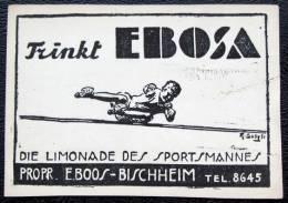 Etiquette Rustique Ou Artisanale Pour  Ebosa  Pour E Boos Bischeim Strasbourg Limonade - Advertising