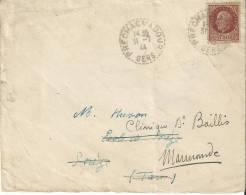 2303 PRECHAC S/ ADOUR Gers Lettre 1,50 F Pétain Yv 517 Ob 31 7 44 Recette Distribution Lautier B4 - Postmark Collection (Covers)