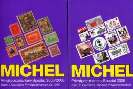 PRIVATPOST Michel Katalog 2006 Neu 64€ Band1+2 Privatpostmarken Bis 1900 Moderne Deutsche Post 1998 Catalogue Of Germany - Catalogues