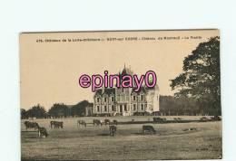 B - 44 - NORT SUR ERDRE - Le Chateau De Montreuil - La Prairie - Vaches - édit. Chapeau - - Nort Sur Erdre