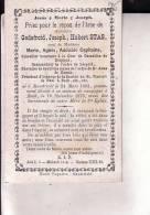 BEEK MAASTRICHT Godefroid STAS 1802-1876 Veuf Marie CAPITAINE Conseiller Cour De Cassation Belgique Doodsprentje - Andachtsbilder