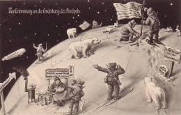 Seltene Ak Zur Erinnerung An Die Entdeckung Des Nordpols Gelaufen 12.10.09 - Geschichte