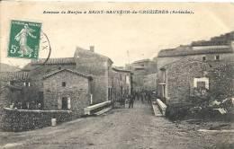 Ardèche- Saint-Sauveur-de-Cruzières -Avenue De Barjac. - Autres Communes