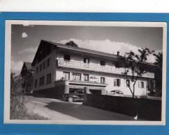 74 MORILLON -HOTEL RESTAURANT CLAIRE FONTAINE CP Photo Année 1960 Voiture Peugeot 403 Sortant Du Parking - Other Municipalities