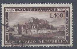 ITALIE - 1949 - CENTENAIRE DE LA REPUBLIQUE ROMAINE - N°  537 - OBLITERE -TB  - - 6. 1946-.. Republic