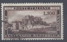 ITALIE - 1949 - CENTENAIRE DE LA REPUBLIQUE ROMAINE - N°  537 - OBLITERE -TB  - - 1946-60: Used