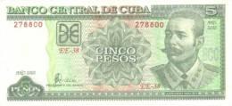 CUBA NOTE 5 PESOS 2002 P 116e UNC - Cuba