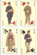 LES 4 VALETS THEME DU FACTEUR PLUSIEURS EPOQUE édition De La Poste - Cartes à Jouer