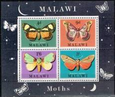 Malawi 1970 Yvertn° Bloc 19 *** MNH  Cote 50 FF Faune Papillons De Nuit Vlinders - Malawi (1964-...)