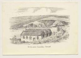 St. Winwalloe, Gunwalloe, Cornwall - Artist Drawn - Angleterre