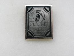 1 Pin´s     CRICKET  CO - Cricket
