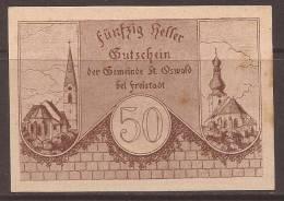 St. OSWALD  - V - AUSTRIA - 1920 GUTSCHEIN Note - Autriche