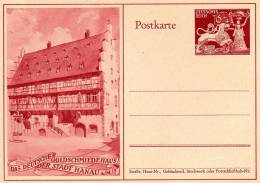 Deutsches Reich, Ganzsache, Das Deutsche Goldschmiedehaus Der Stadt Hanau Am Main - Germania