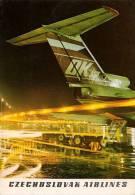 AVIATION CIVILE - ANNÉE ~ 1970 - CSA - AVION TUPOLEV TU-154 Sur AÉROPORT [ PRAGUE / PRAHA ? ] - TCHÉCOSLOVAQUIE (m-736) - 1946-....: Moderne