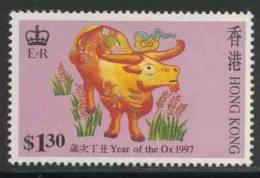 "Hongkong 1997 Mi 785 ** ""Year Of The Ox"" - Embroidery Designs / Stickereien / Broderie / Borduurwerk - Astrologie"