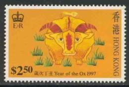 "Hongkong 1997 Mi 786 ** ""Year Of The Ox"" - Embroidery Designs / Stickereien / Broderie / Borduurwerk - Astrologie"