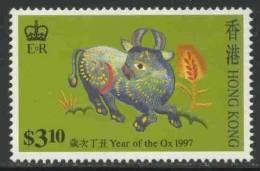 "Hongkong 1997 Mi 787 ** ""Year Of The Ox"" - Embroidery Designs / Stickereien / Broderie / Borduurwerk - Astrologie"