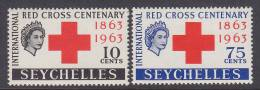 ## Seychelles 1963 Mi. 213-14 Internationales Rotes Kreuz Red Cross Croix Rouge Complete Set MH* - Seychellen (...-1976)