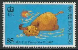 "Hongkong 1997 Mi 788 ** ""Year Of The Ox"" - Embroidery Designs / Stickereien / Broderie / Borduurwerk - Astrologie"
