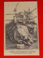 Madonna Latte Allatta - Riproduzione Incisione Bulino A.Durer1503 - SERVI MARIA In S .CARLO MILANO / NATALE 2003 - Santini