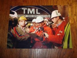 Photo Officielle Du Tunnel Sous La Manche Jean Claude Bourret TF1 Eurotunnel TML - Trains
