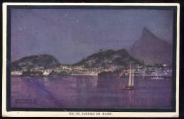 AK   Brazil    Brasil    RIO DE JANEIRO   By Night   FOLDED !!!!!!!! - Rio De Janeiro