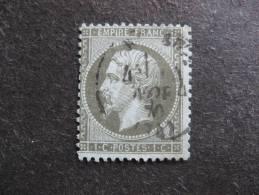 A). TB N°19 , Oblitéré. Cote = 45 Euros. - 1862 Napoleon III