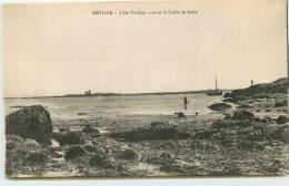 DEP 50 REVILLE L'ILE TATIHOU VUE DE LA CROIX  DE SAIRE - France