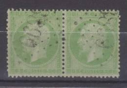 Lot N°19699  Paire Du N°20, Oblit GC 3899 TALMONT(79), Ind 6 - 1862 Napoleon III