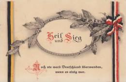 DR Propagandakarte 1.WK Heil Und Sieg! Gelaufen - Deutschland