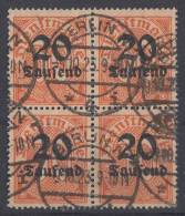 DR Dienst Minr.90 Gestempelt 4er Block - Dienstpost