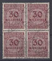 DR Minr.320 Gestempelt 4er Block - Deutschland