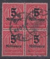 DR Dienst Minr.D98 Gestempelt 4er Block - Dienstpost