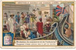 Evolution Du Commerce Et De L'industrie Chargement Des Objets Précieux  Pli Marqué - Liebig