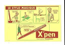 Buvard  LE  STYLO  MAGIQUE  X ' PEN  Fabriction  WATERMAN - Buvards, Protège-cahiers Illustrés